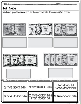 Money and Bills Centers and Printables