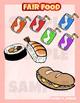 Fair carnival food Clip art set