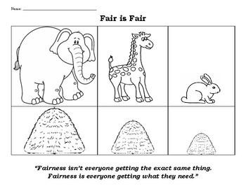 Fair is Fair: fairness vs equal