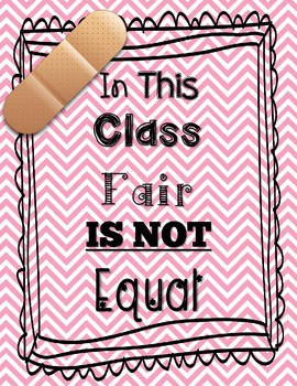 Fair is Not Equal Sign