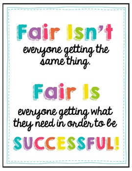 Fair is... Poster - FREEBIE! by Learning Cove | Teachers Pay Teachers