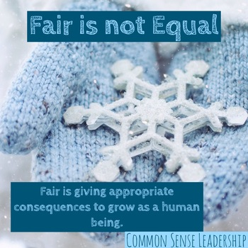 Fair is not Equal Printable Poster