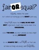 Fair or Equal Classroom Poster Printable