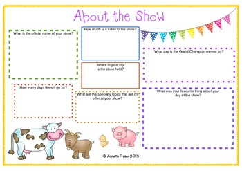 Fair or Royal Show Excursion Resource