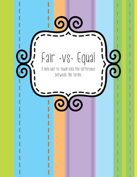 Fair -vs- Equal Activity Pack