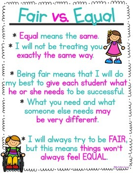Fair vs. Equal Poster Freebie