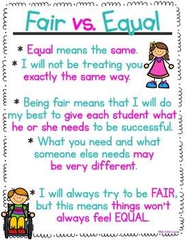 Fair vs. Equal Poster Freebie