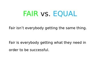 Fair vs. Equal PowerPoint