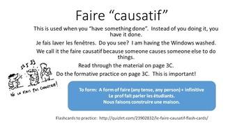 Faire Causatif Image