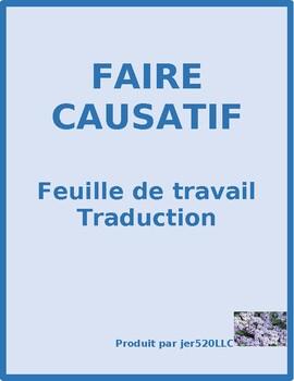 Faire Causatif French Translation Worksheet