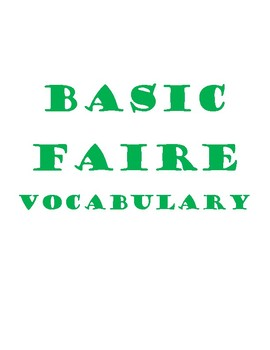 Faire - French To Do Vocabulary