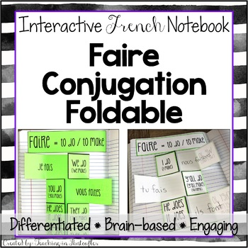 Faire Verb Conjugation Foldable: Interactive Student Notebook