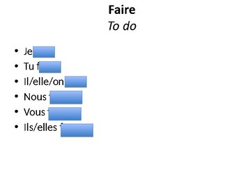 Faire and Aller / The Present Tense of Faire and Aller