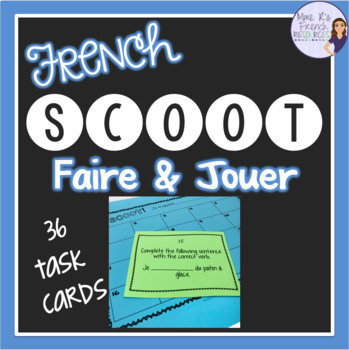French verbs faire and jouer SCOOT game JEU DE VERBES