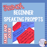French verbs faire and jouer speaking task cards and prompts