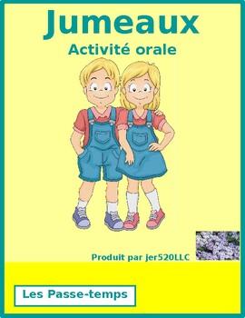 Faire et les passe-temps Jumeaux Speaking activity