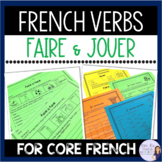 French verbs faire ou jouer - NO PREP exercises for French 1