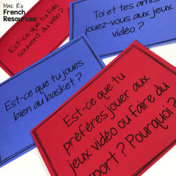 Faire and jouer conjugations and expressions - NO PREP exercises for French 1