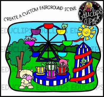 Fairground Bears Clip Art Bundle {Educlips Clipart}