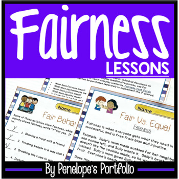 FAIRNESS Character Education Packet