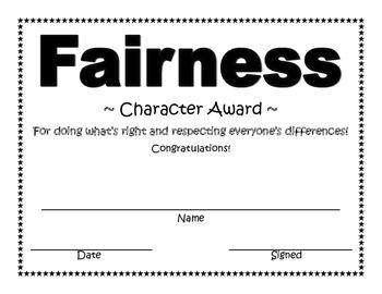 Fairness Character Award
