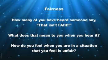 Fairness Character Ed Lesson w 3 video links & scenarios activities PBIS