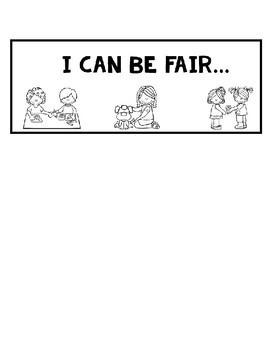 Fairness: Character Education Flap Book