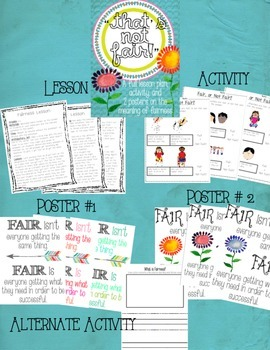 Fairness Lesson, Activity, and Poster