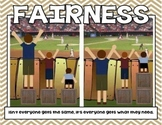 "Fairness Poster ""It's Not Fair"" Character Counts visual"