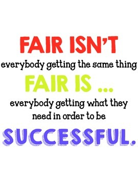 Fairness Poster for the Differentiated Classroom - Class Expectations