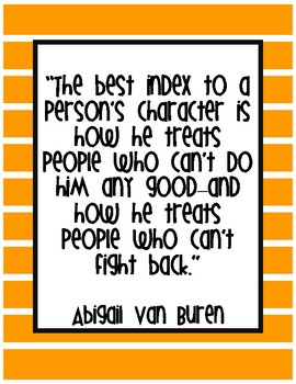 Character Education Fairness Quotes Posters and Printables
