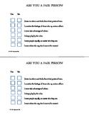"Fairness Survey Goes w ""It's MINE!"" Lesson Character Education tool PBIS"