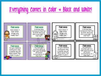 Social Skills Task Cards - Fairness