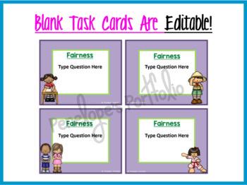 Fairness Activity:  Social Skills Task Cards