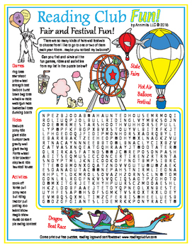 Fairs and Festivals Word Search Puzzle