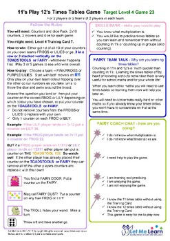 Fairy 11 and 12 Times Tables Games