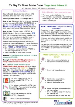 Fairy 3 and 5 Times Tables Games