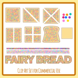 Fairy Bread Australian Food Fractions Bread with Sprinkles Party Food Clip Art
