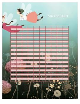 Fairy Clary Sage Sticker Chart