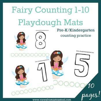 Fairy Counting Playdough Mats