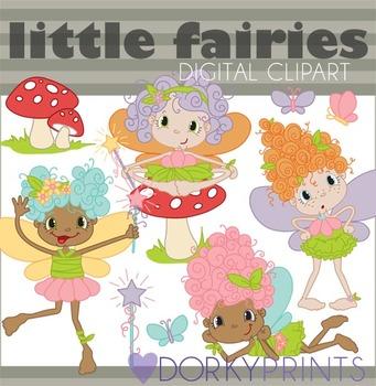 Fairy Digital Clip Art - Cute Fairies Clip Art