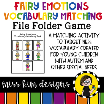 Fairy Emotions Vocabulary Folder Game for Early Childhood