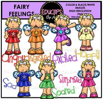Fairy Feelings Clip Art Bundle {Educlips Clipart}