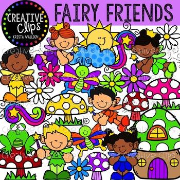 Fairy Friends: Fantasy Clipart {Creative Clips Clipart}