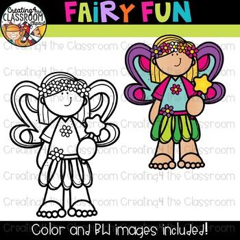 Fairy Fun Clipart {Fairy Clipart}