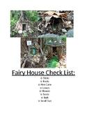 Fairy House Builder Checklist