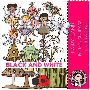 Melonheadz: Fairy Land clip art - BLACK AND WHITE