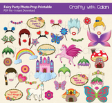 Fairy Party Photo Booth Prop, Girl's Birthday Party Printable