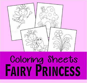 Fairy Princess Coloring Sheets for Kids