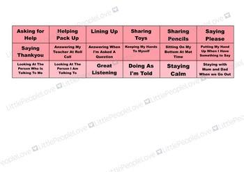 Fairy Reward Chart